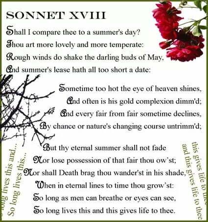 Shakespeare Sonnet No. 18: Full Text