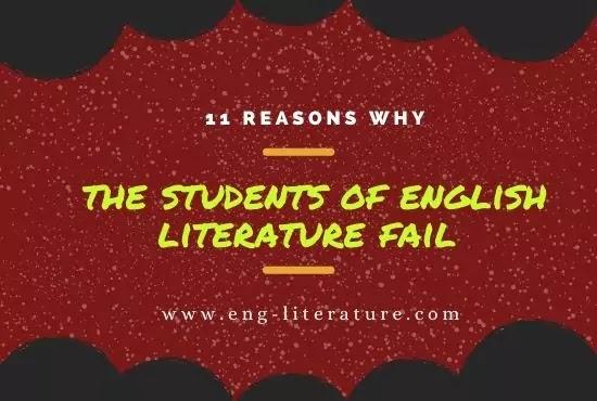 11 Reasons Why Students of English Literature Fail
