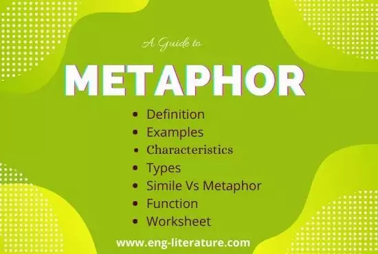 Metaphor: Definition and Examples, Types, Function, Metaphor Poems, Characteristics
