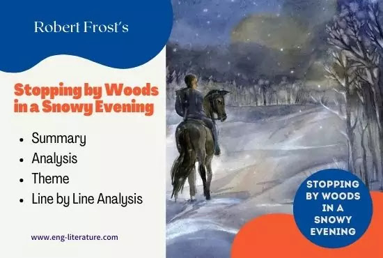Frost Stopping by Woods on a Snowy Evening Summary, Analysis, Theme, Line by Line Analysis